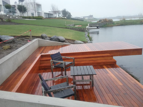 A seating area on the deck
