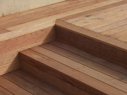 Detail of the decking