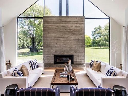 Ohoka fireplace interior shot