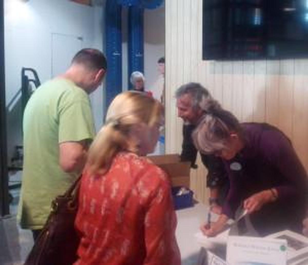 Virginia (author) book signing