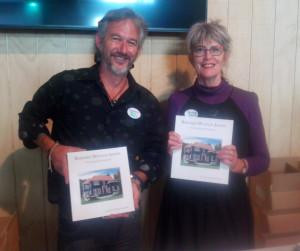 Darin (publisher) & Virginia (author) with the Book!