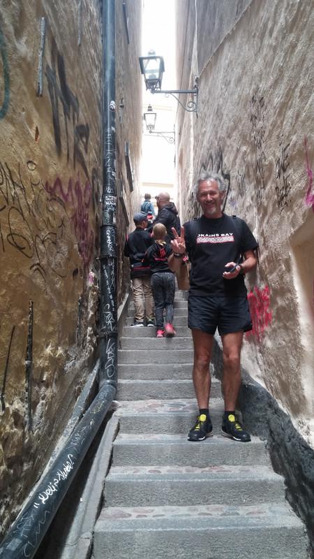 Mårten Trotzigs gränd the narrowest street in Gamla stan, Stockholm