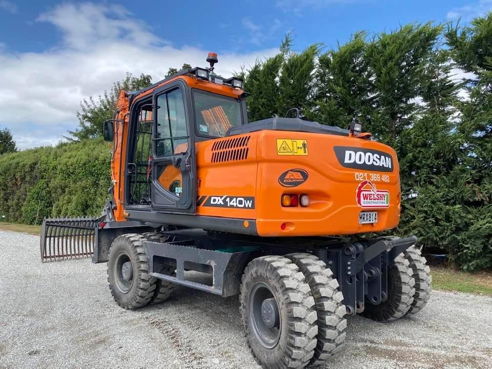 Welshy Contracting has a Doosan digger for general maintenance