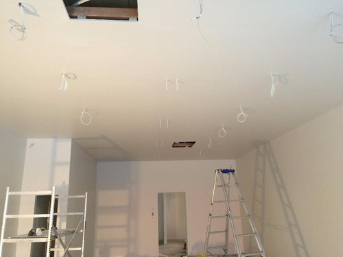 Installation of power for shop lighting