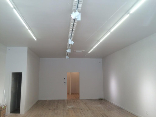 Installation of shop lighting