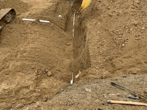 Earthworks and putting in the pipeline for irrigation on the farm