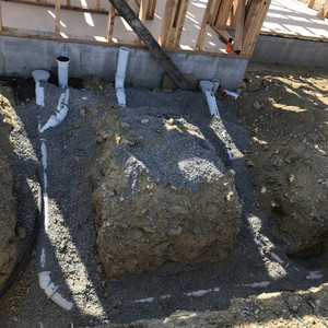 Domestic plumbing for a new home