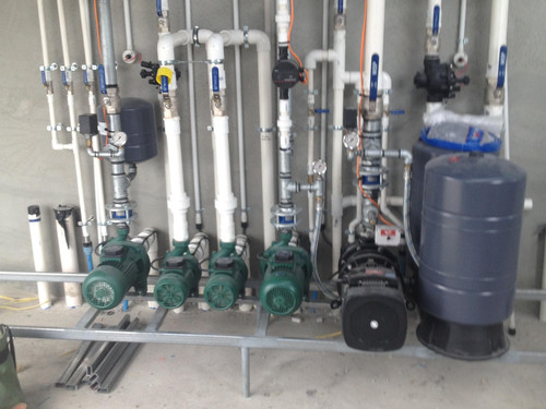 Complex plumbing for a new dairy shed