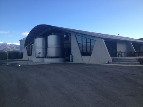 A new dairy shed is going up in Otago