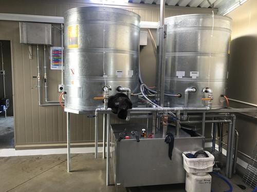 Treatment tanks installed