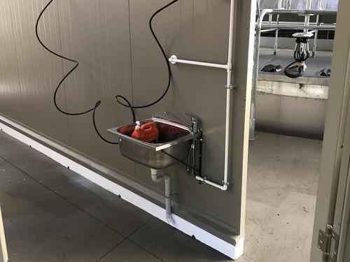 Handwashing facilities at a dairy shed