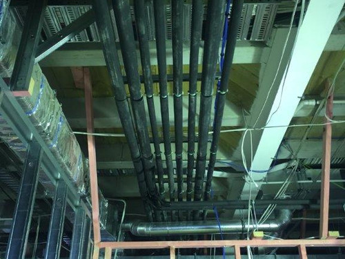 Synlait Drystore roof pipework by J G Smaill
