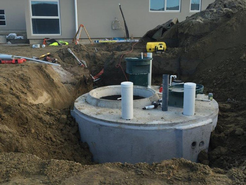 Septic tank being installed by J G Smaill Ltd