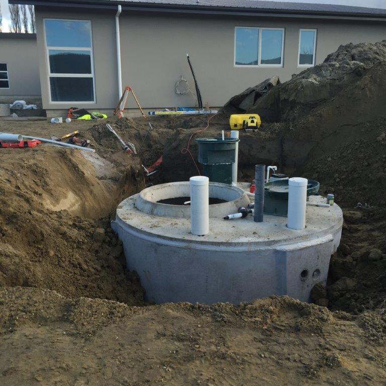 Getting a septic tank or treatment plant installed