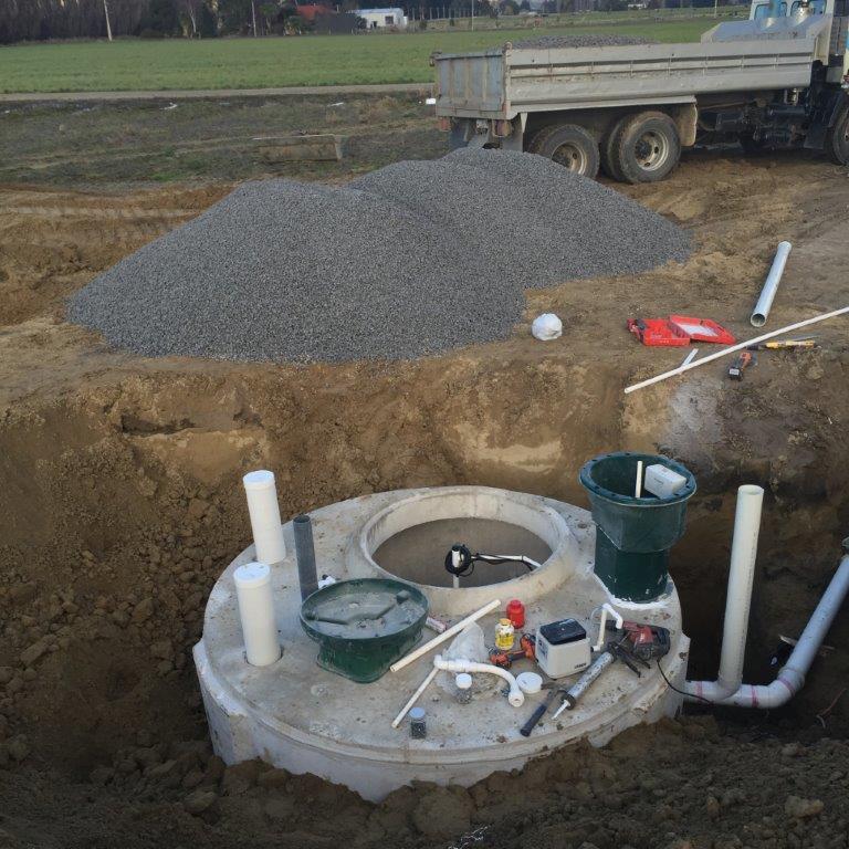 J G Smaill Ltd installing a septic tank
