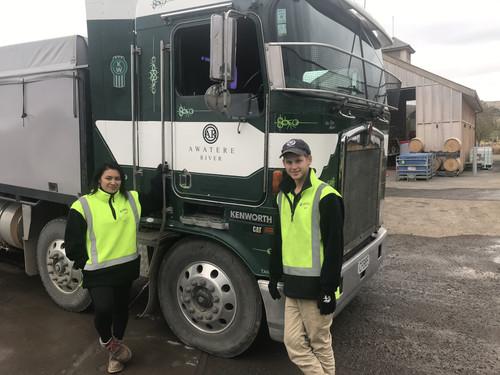 Esther & Jack, Dynes Cadets on the 2020 grape harvest