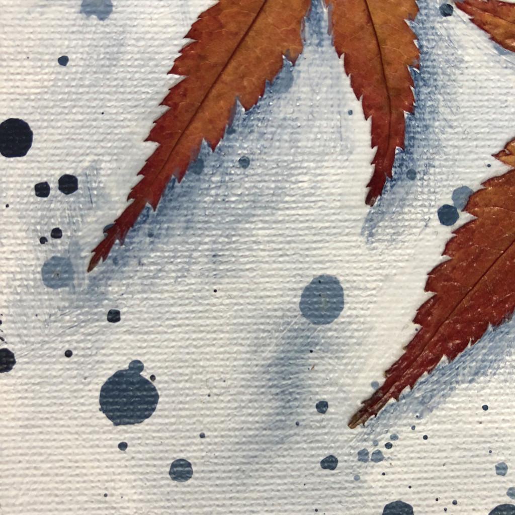 "Autumn's Rainbows No 18 (6"" x 6"" Slim) Detail View"