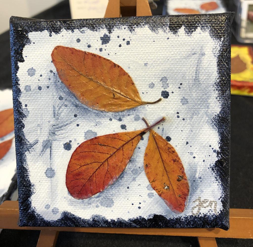 "Autumn's Rainbows No 10 (4"" x 4"" Block)"
