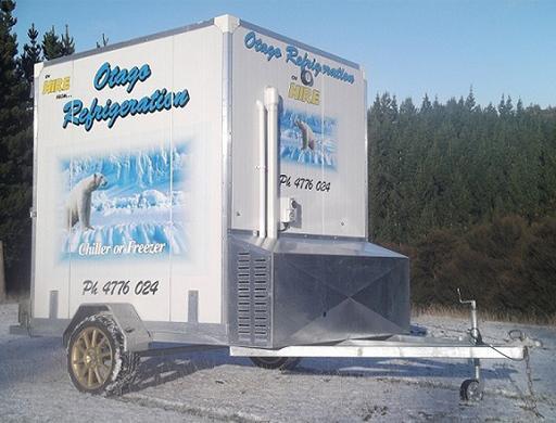 Otago Refridgeration chiller trailer or truck hire Otago.