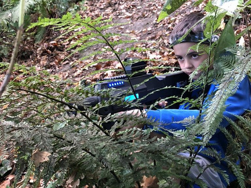 The bush makes for a great backdrop for Battle Combat laser tag