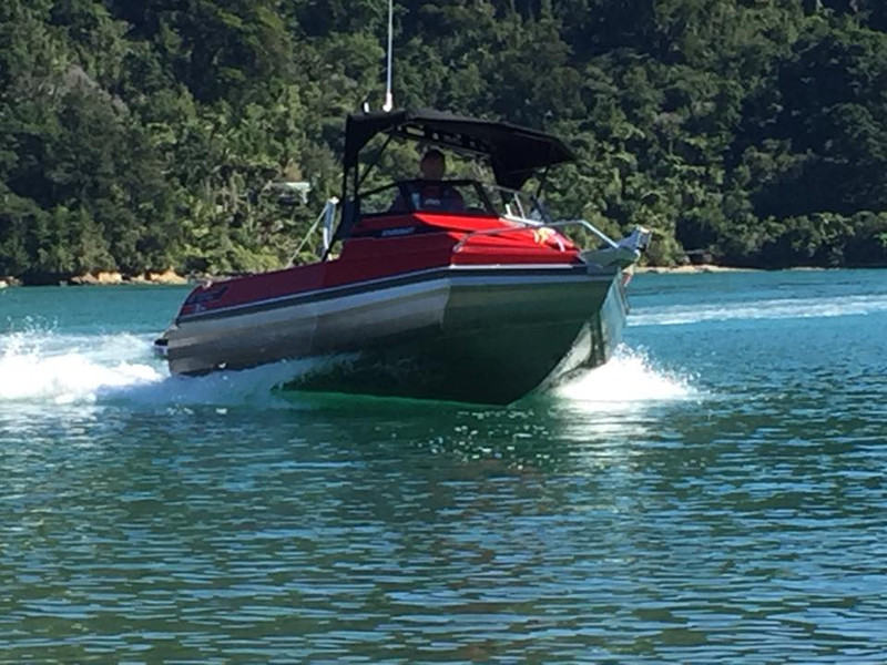 This is Sid. Our boat for hire in the Abel Tasman area. Hull: Stabicraft 1650 Engine: Yamaha 100hp 4 Stroke