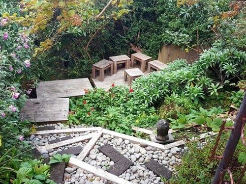 Boxed stairs, decking and outdoor seating by Outlet Homes