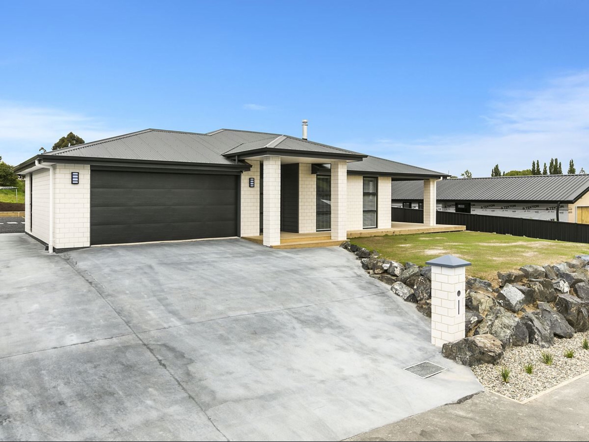 The outside of this new build in Dunedin