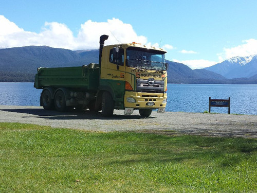 Southern Transport Truck Number 5 parked up in Te Anau