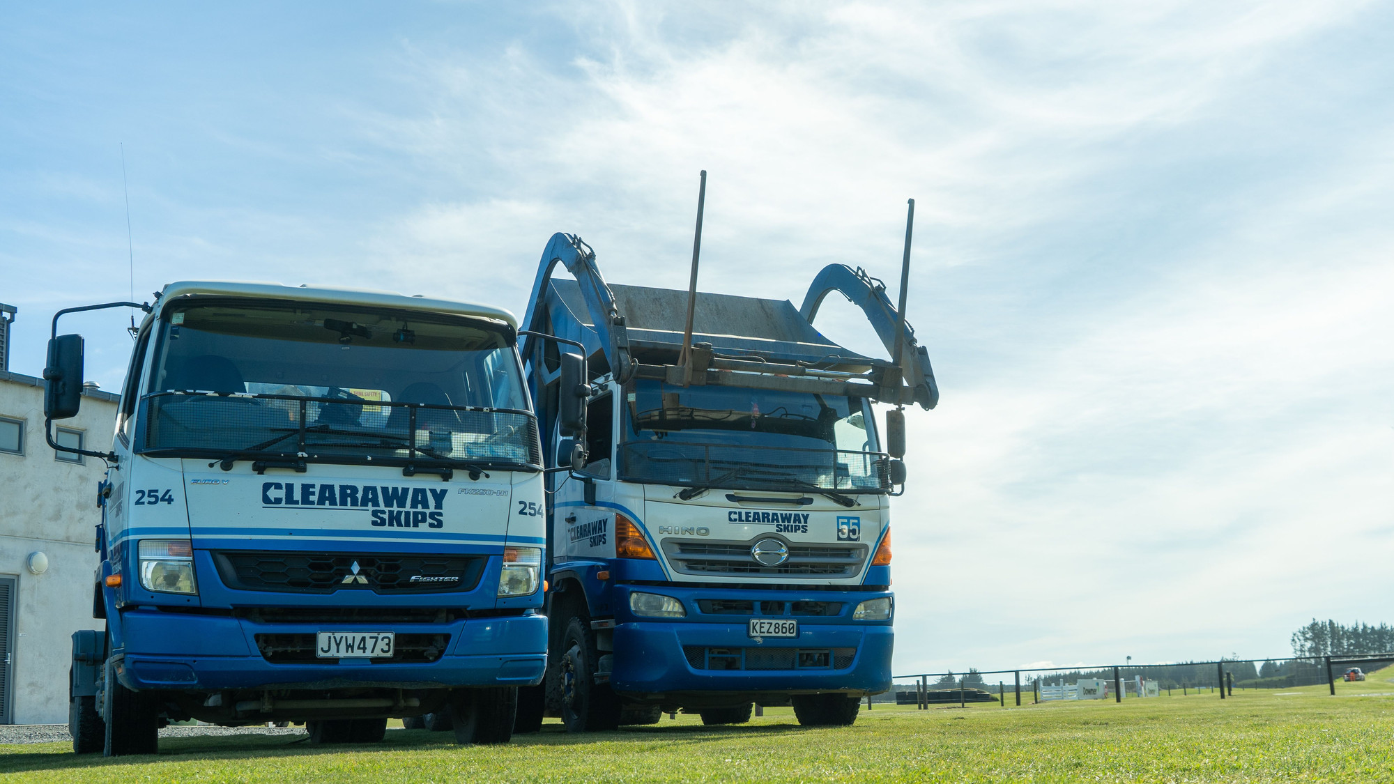 Clearaway Skips Huka Truck #254 and Front Load  #55