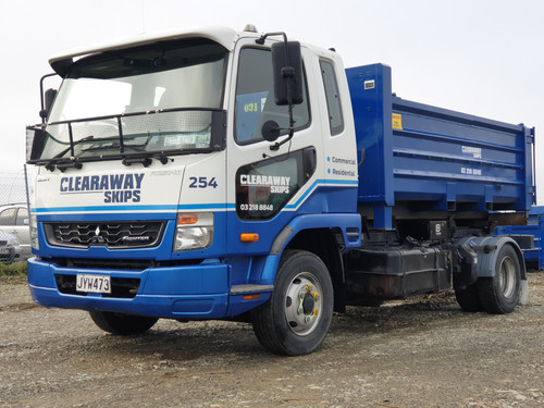 Clearaways HUka Truck with Skip bin on the back ready for delivery