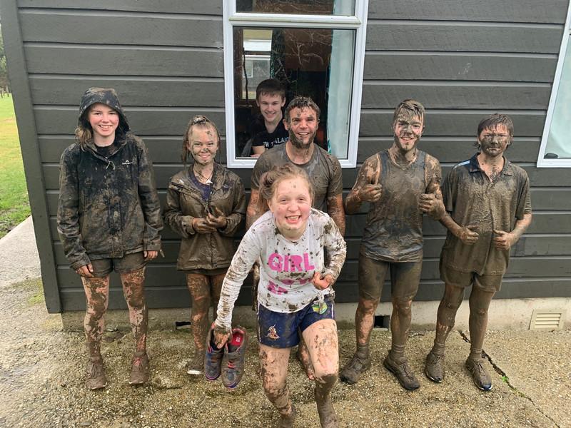 Mud run, 2020, at Tokomairiro High School