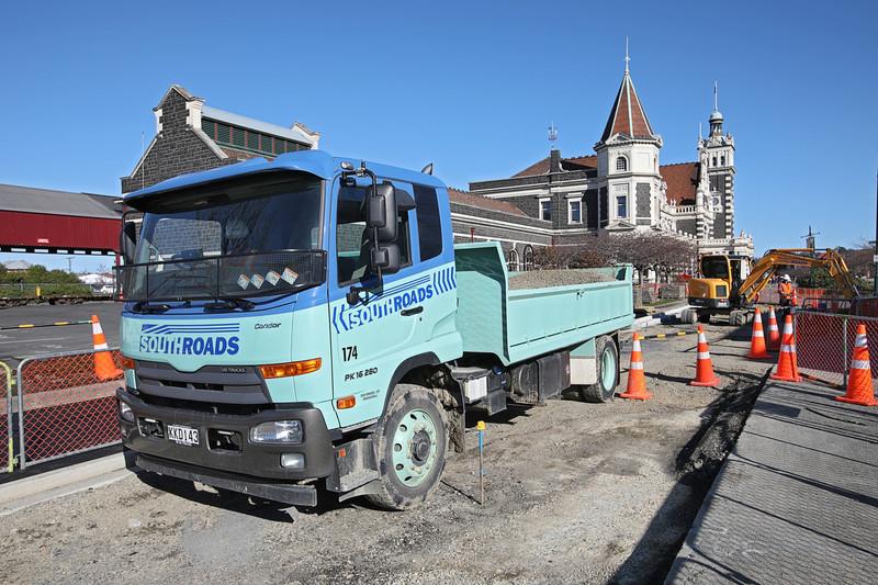 SouthRoads roadworks at Dunedin Train Station
