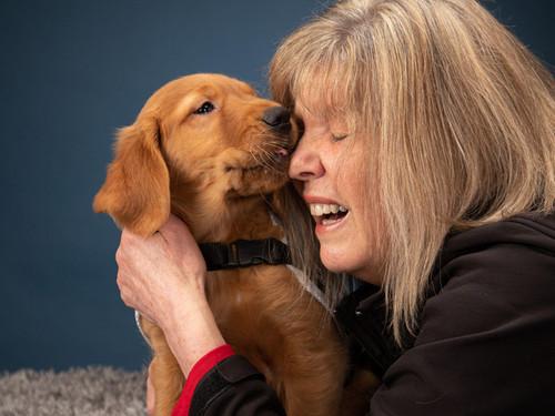 Magic, canine medical detection dog
