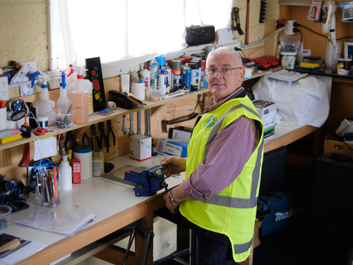 Doug in the workshop