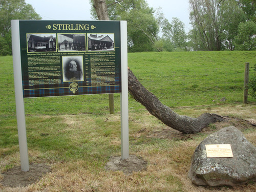 Stirling information sign