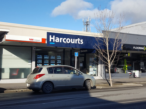 Harcourts building signage