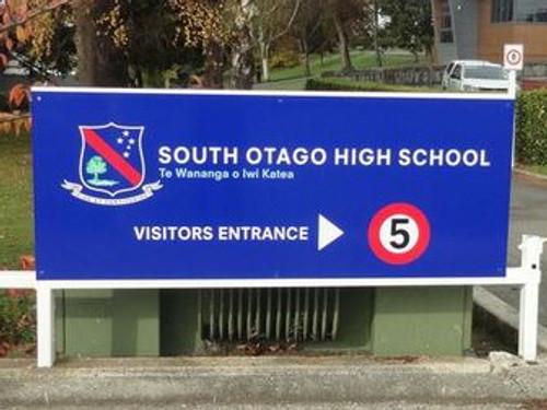 Signage for South Otago High School