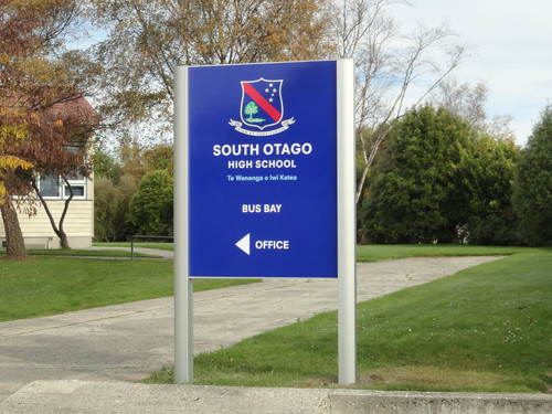 South Otago High School Sign