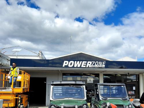 Powerzone signage design