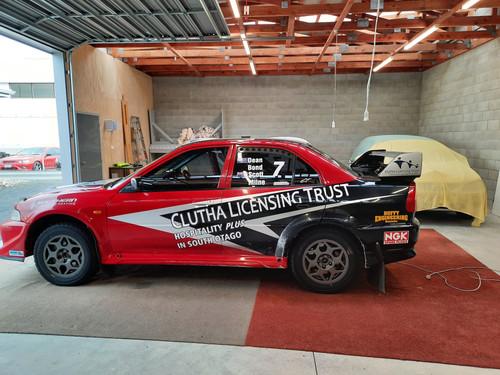 Dean Bond Rally Car vehicle signage
