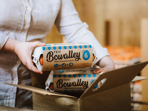 Bowalley Free Range eggs use 100% recycled packaging