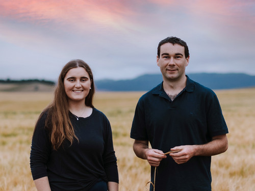 Anna and her brother Tim from Bowalley Free Range farm