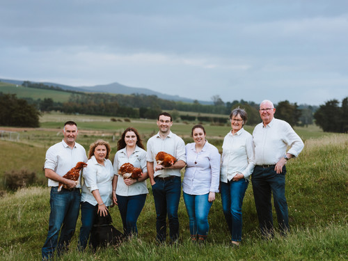 The Craig family of Bowalley Free Range farm